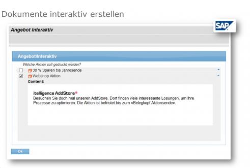 Mit dem Microsoft Word AddOn lassen sich Dokumente interaktiv aus Ihrem SAP heraus erstellen