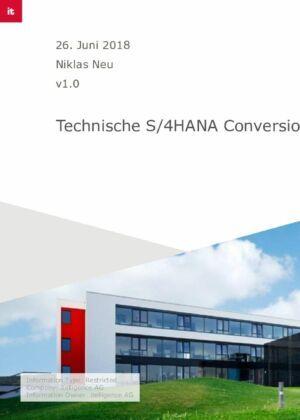 02. Technische S/4HANA Conversion: von der Planung bis zum Go-live
