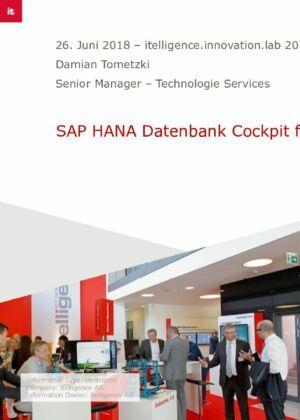 05. SAP HANA Datenbank Cockpit für Operation und Monitoring
