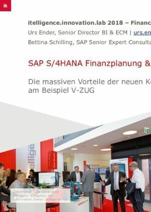 SAP S/4HANA Finanzplanung & Analytics: Die massiven Vorteile der neuen Konzepte am Beispiel V-Zug