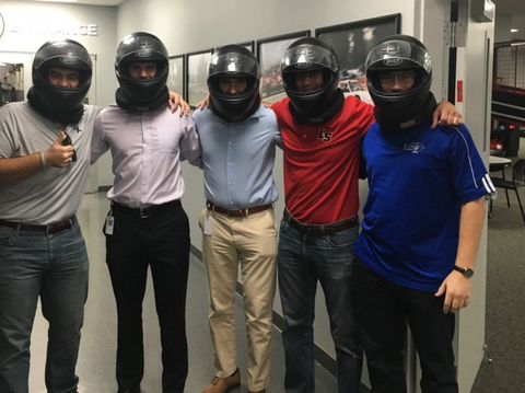 Team-building activity at local Go-Kart race track.