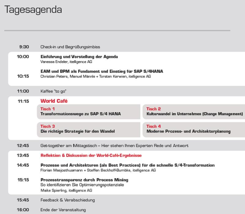 Image Agenda Fachtagung DBI Smarte Geschäftsprozesse und IT-Architekturen entscheiden das Spiel