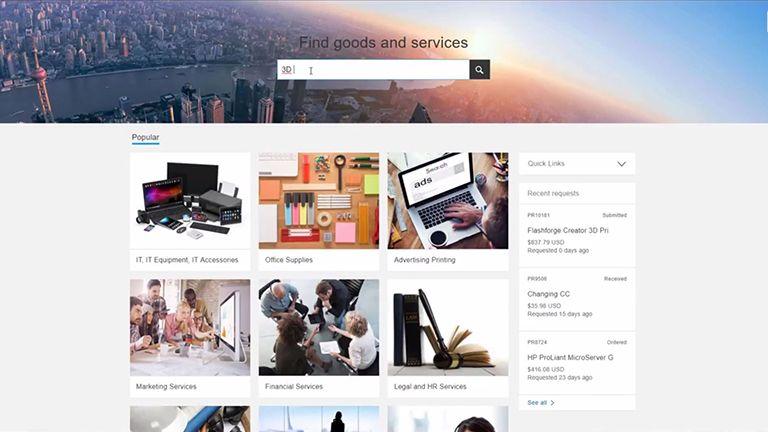SAP Ariba Snap Einkaufssoftware für den Mittelstand Screen 1
