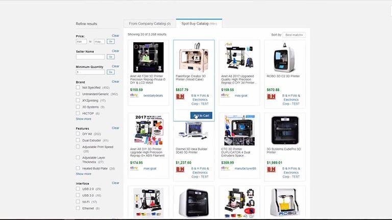 SAP Ariba Snap Einkaufssoftware Screen 1