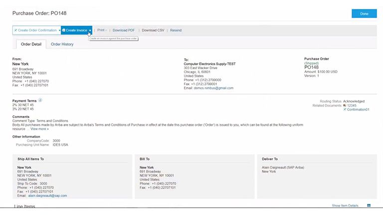 SAP Ariba Snap - Die Einkaufssoftware Screen4
