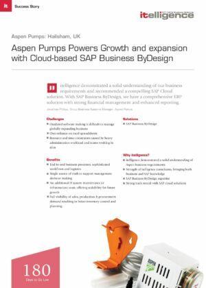 Aspen Pumps_Case Study SAP ByDesign Cloud ERP