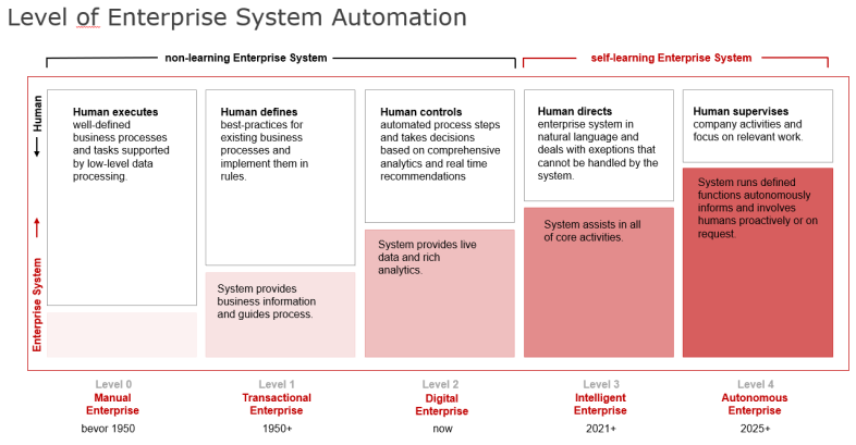 Levels of an Enterprise System (Source: SAP, own adjustments)