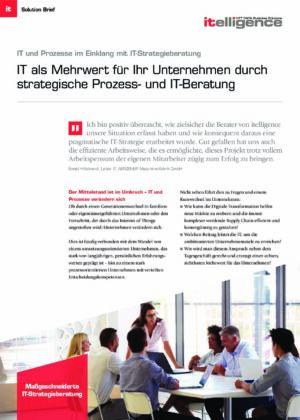 Broschüre: IT und Prozesse im Einklang mit IT-Strategieberatung