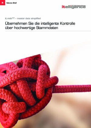 Broschüre - it.mds: Master Data Simplified