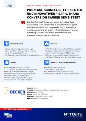 Case Study - Becker Chemie GmbH