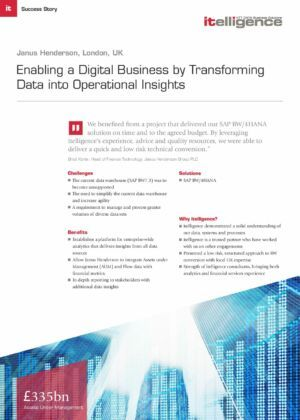 Enabling a Digital Business by Transforming Data into Operational Insights