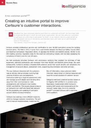 Certsure_it.mx customer portal case study