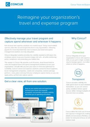 Concur Travel and Expense Management Brochure