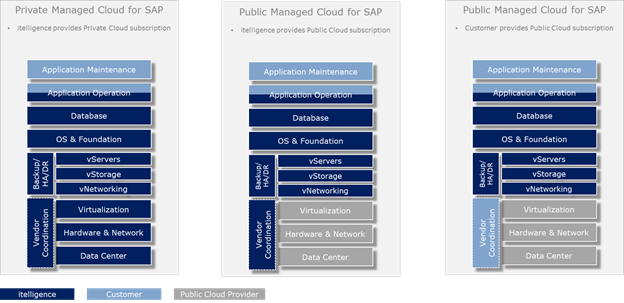private and public managed cloud for SAP