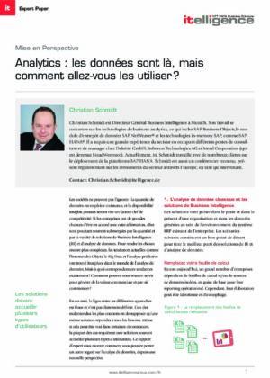 Analytics : vous avez les données, comment les utiliser?