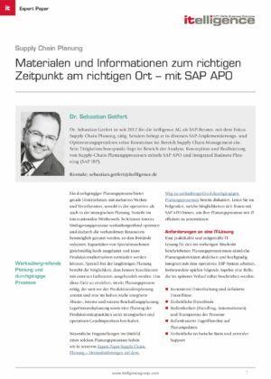 Expertpaper   Supply Chain Planning mit APO
