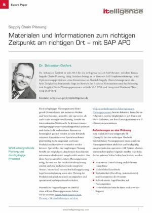 Expertpaper | Supply Chain Planning mit APO