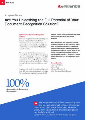 ¿Quiere lograr una automatización del 100% en el reconocimiento de documentos? Pruebe el it.capture Service