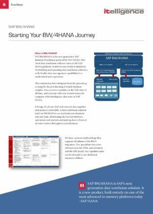 Starting Your BW/4HANA Journey