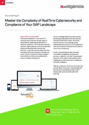 Master the Complexity of Real-Time Cyber Security of Your SAP Landscape