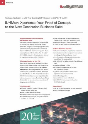 S/4Move Xperience on AWS