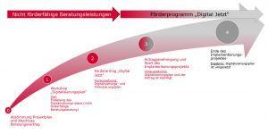 Digitalisierungsprojekt für KMU mit bis zu 499 Mitarbeitern (Beispiel)