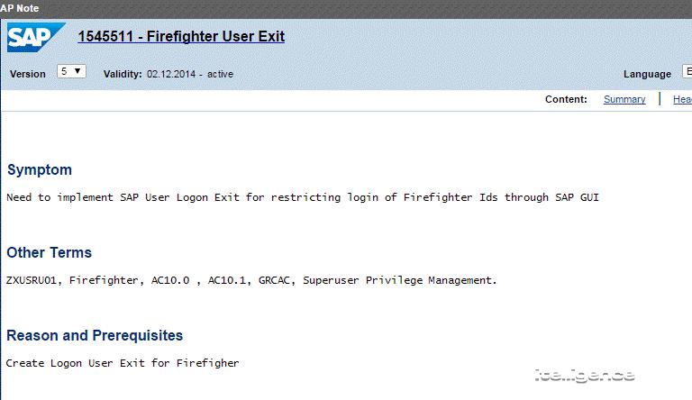 Firefighter Log Analysis for SAP GRC Firefighter Controller