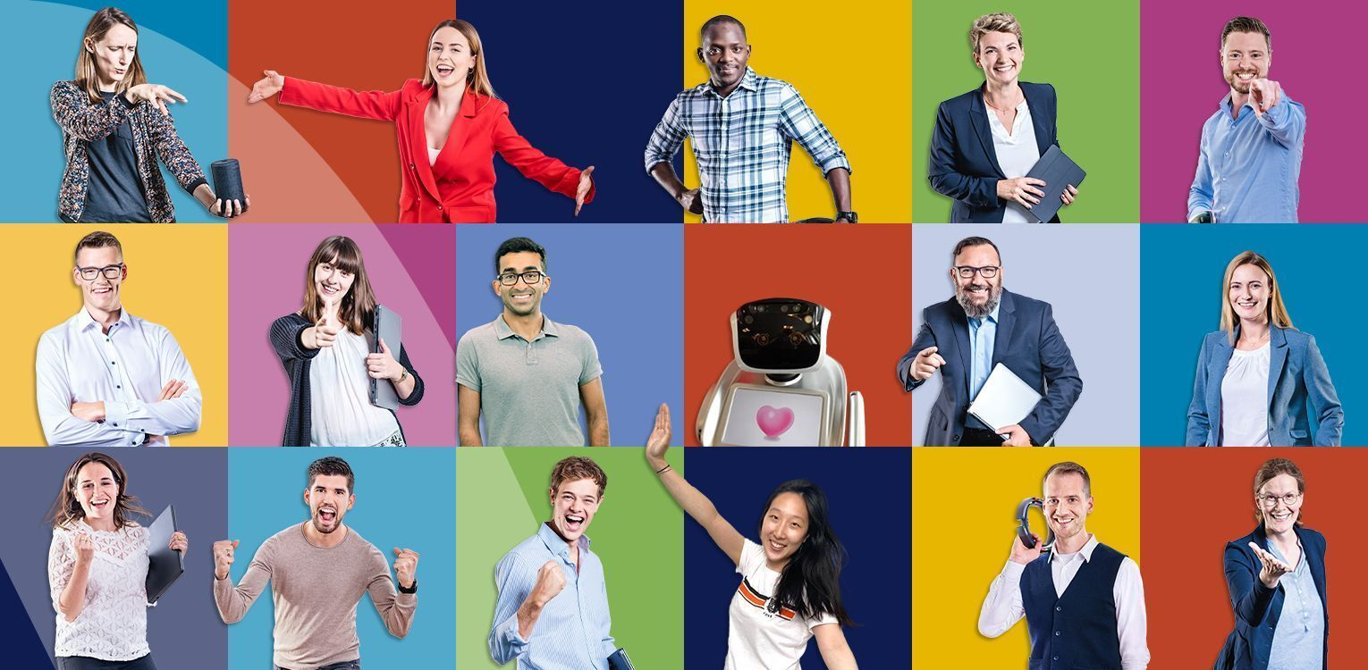 colorful collage of employees