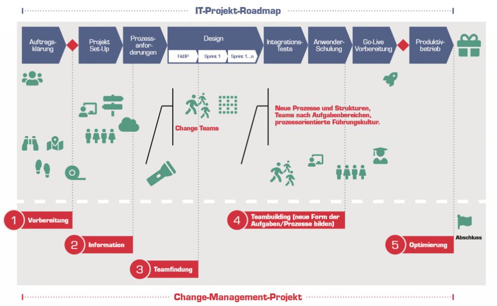 Grafik Change Management in IT-Projekten