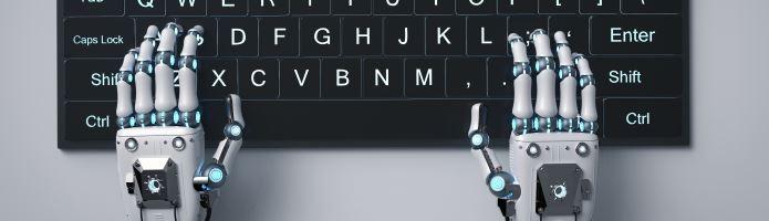 Robot hand using computer keyboard
