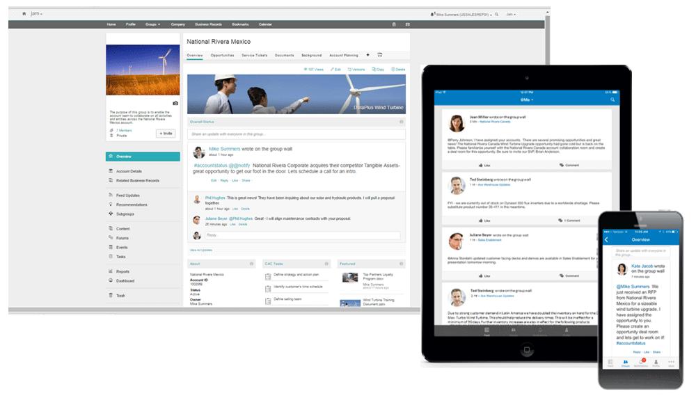 Screenshot SAP Jam