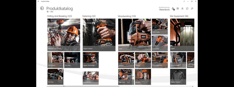Die Produktkatalogansicht im it.mx product catalog