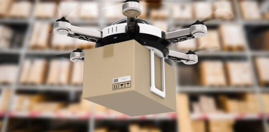 Drone in the warehouse