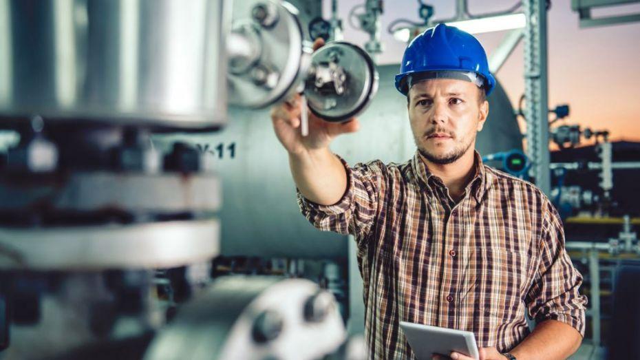 man working in machine