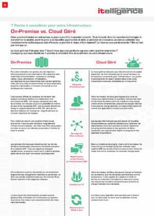 Infographie : On-Premise vs. Cloud Géré