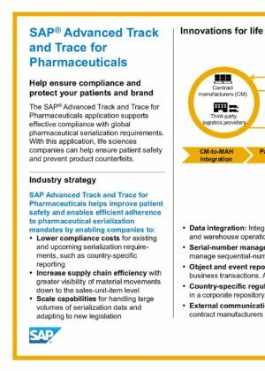 Placemat SAP Advanced Track and Trace for Pharmaceuticals