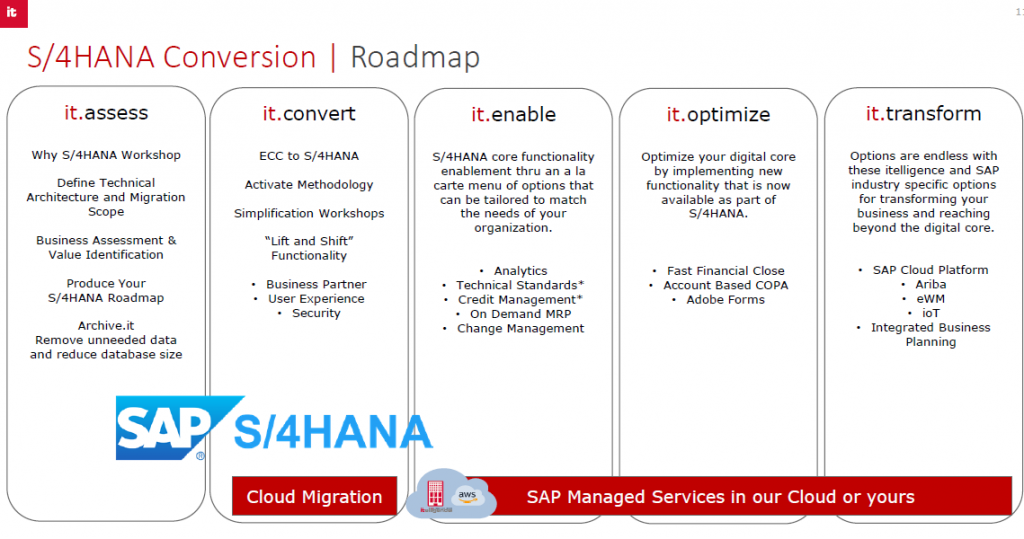 SAP S/4HANA conversion process
