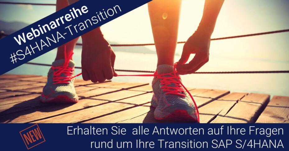 Zur Webinarreihe Transition zu SAP S/4HANA