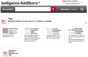 SAP Analytics Offering AddStore