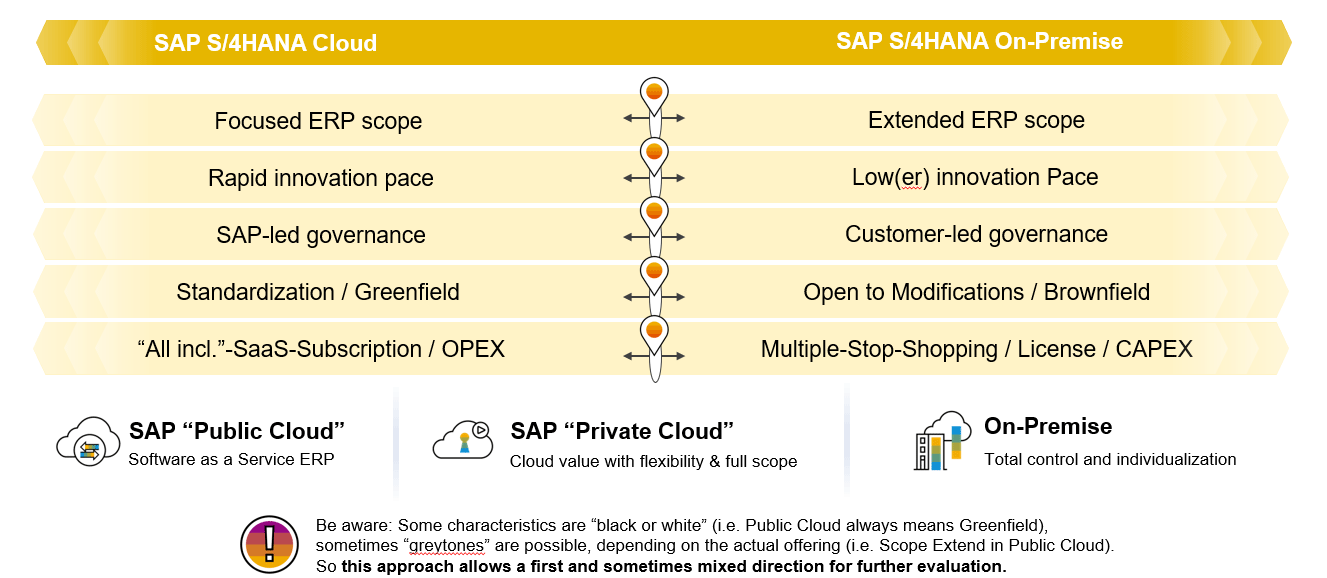 SAP Grafik SAP S/4HANA Offerings