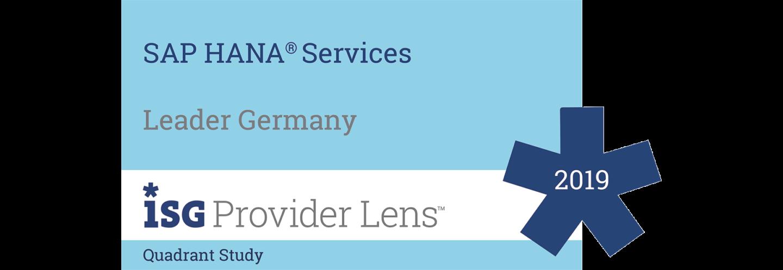 SAP HANA Services Leader 2019, ISG Provider Lens