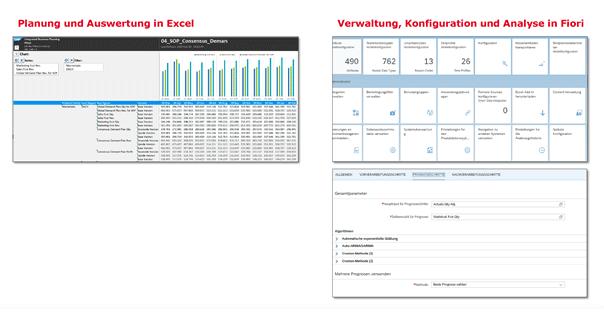 Grafik Benutzeroberflächen in SAP IBP