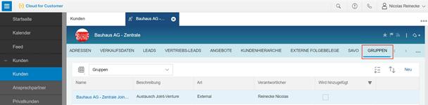 SAP Jam Integration in die SAP Hybris Sales / Service Cloud