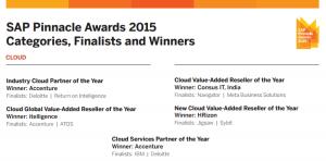 SAP Pinnacle Awards 2015