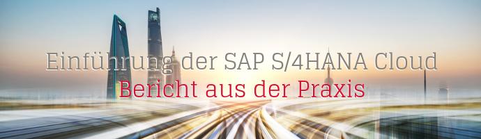 Grafik Einführung der SAP S/4HANA Cloud - ericht aus der Praxis