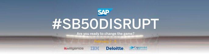 SB50 Disrupt logo SAP