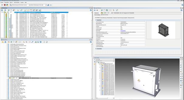 Screenshot SAP ECTR – Konstruktion von Technik- und Sicherheitsräumen - DENIOS AG
