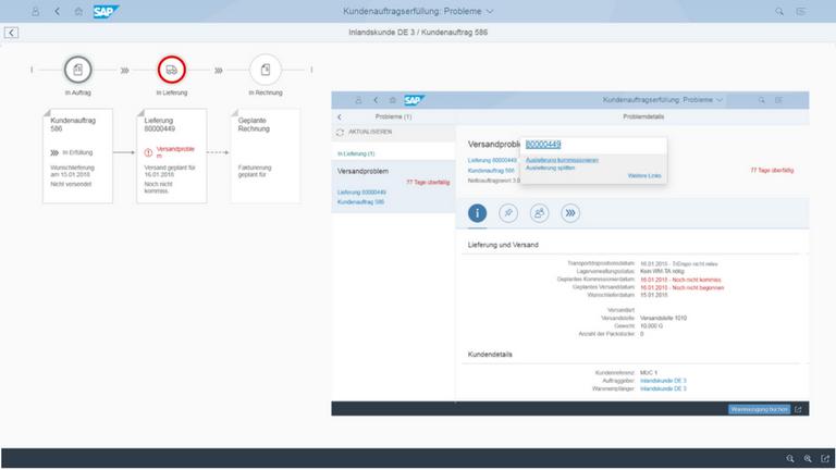 Screen SAP S4HANA Sales