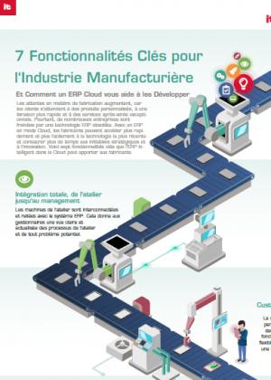 Infographie : 7 fonctionnalités clés pour l'industrie Manufacturière