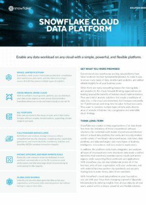 Snowflake Cloud Data Platform